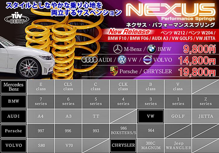 ローダウンスタイルとしなやかな乗り心地を追及した「NEXUS(ネクサス)」スプリング